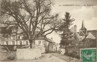 "/ CPA FRANCE 58 ""Corbigny, le tilleul"""