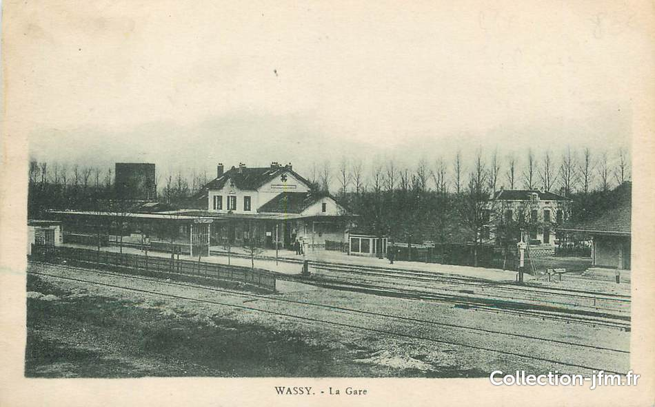 Cpa france 52 wassy la gare france 52 haute marne for 52 haute marne