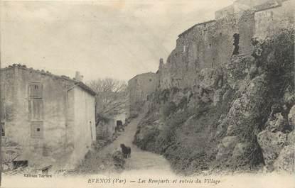 """/ CPA FRANCE 83 """"Evenos, les remparts et entrée du village"""""""