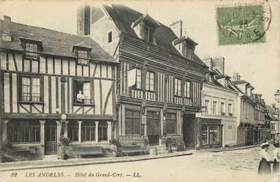 """CPA FRANCE 27 """"Les Andelys, Hôtel du Grand Cerf, Ed. L.L."""""""