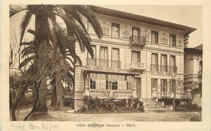 "/ CPA FRANCE 06 ""Nice, Hôtel Pompeia pension"""