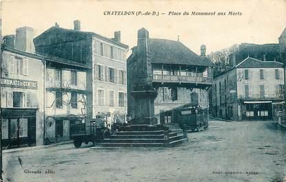 """CPA FRANCE 63 """"Chateldon, place du monument aux morts"""""""