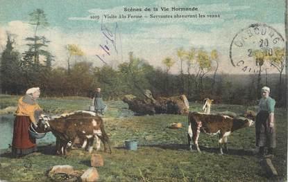 """/ CPA FRANCE 14 """"Scènes de la vie normande, visite à la ferme"""""""