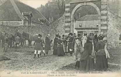 """/ CPA FRANCE 78 """"La Celle Les Bordes, forêt de Rambouillet, chasse Royale"""""""
