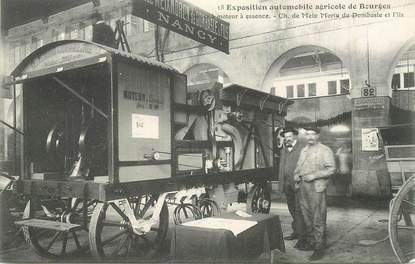 """CPA FRANCE 18 """"Exposition automobile agricole de Bourges, Dombasle et Fils"""""""