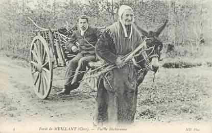 """CPA FRANCE 18 """"Foret de Meillant, la vieille bûcheronne"""""""