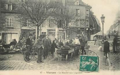 """CPA FRANCE 18 """"Vierzon, le marché aux légumes"""""""