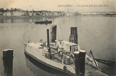 """CPA FRANCE 27 """"Quillebeuf, vue générale prise de la Rive droite"""""""