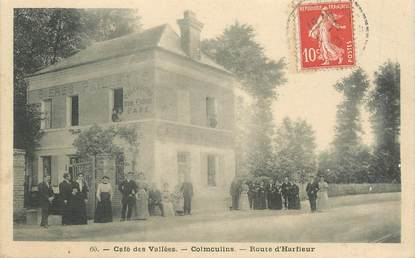 """CPA FRANCE 76 """"Café des Vallées, Colmoulins, route d'Harfleur"""""""