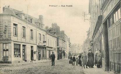 """CPA FRANCE 76 """"Pavilly, rue Postel"""""""