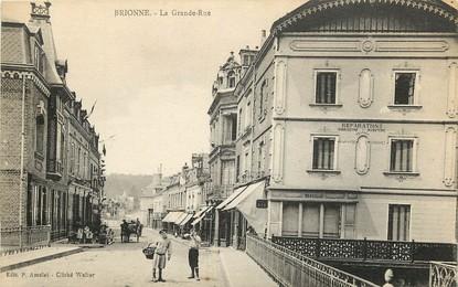"""CPA FRANCE 27 """"Brionne, la grande rue"""""""