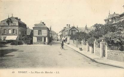 """CPA FRANCE 76 """"Yport, la Place du Marché"""""""