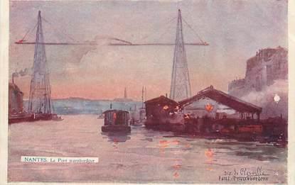 "/ CPA FRANCE 44 ""Nantes, le pont transbordeur"""