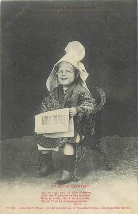 """/ CPA FRANCE 14 """"Petite fille de Vimoutiers"""" / FOLKLORE NORMAND / ENFANT"""