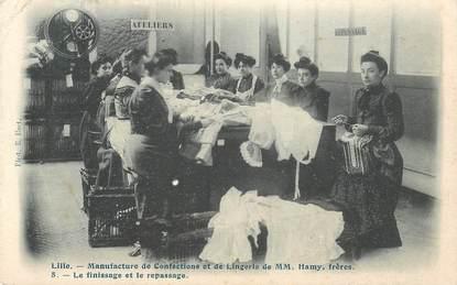 """CPA FRANCE 59  """"Lille, manufacture de confections et de lingerie"""" / REPASSAGE"""