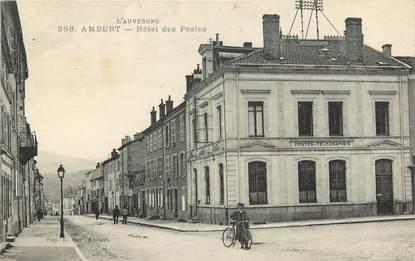 "CPA FRANCE 63 ""Ambert, Hôtel des Postes"""