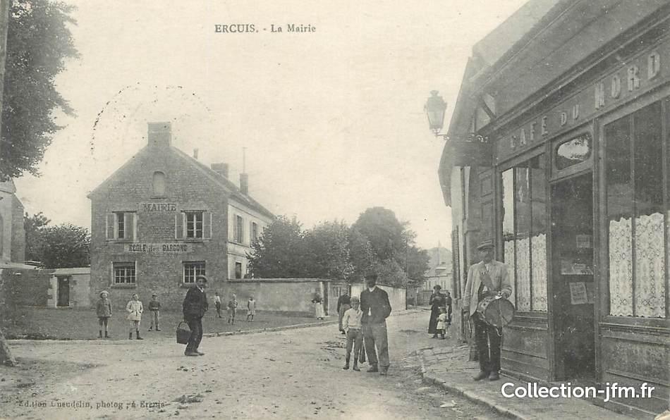 Cpa france 60 ercuis la mairie tambour de ville 60 for Liste communes oise