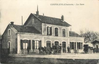 "/ CPA FRANCE 16 ""Confolens, la gare"""