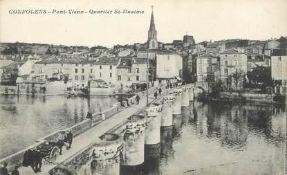 """/ CPA FRANCE 16 """"Confolens, pont vieux, quartier Saint Maxime"""""""