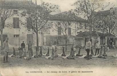 """/ CPA FRANCE 16 """"La Couronne, le champ de Foire 8ème Génie en manoeuvre"""""""