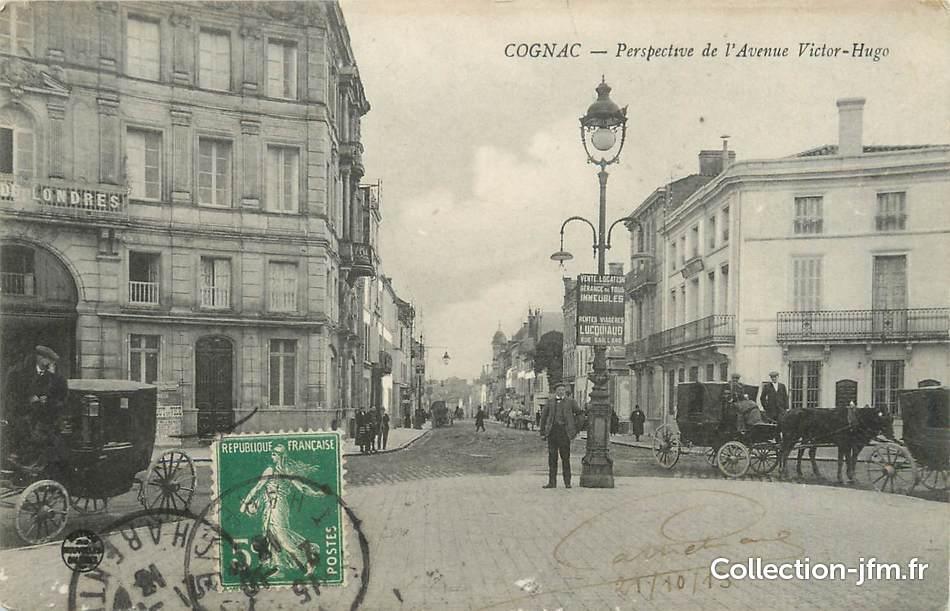 Cpa france 16 cognac perspective de l 39 avenue victor hugo - 16 avenue victor hugo ...