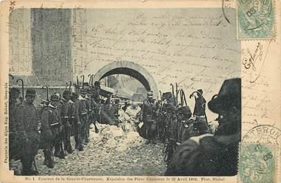 """CPA FRANCE 38 """"Couvent de la Grande Chartreuse, 1903, expulsion des Pères Chartreux"""""""