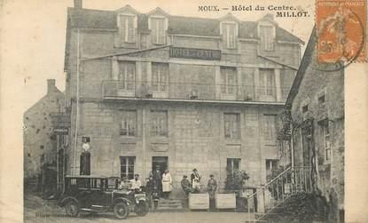 """CPA FRANCE 58 """"Moux, Hotel du Centre"""""""