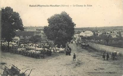 """CPA FRANCE 58 """"Saint Pierre le Moutier, le champ de foire"""""""