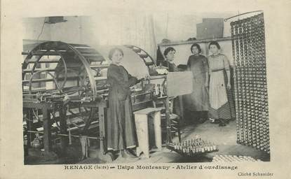 "CPA FRANCE 38 ""Renage, Usine Montessuy, atelier d'Ourdissage"""