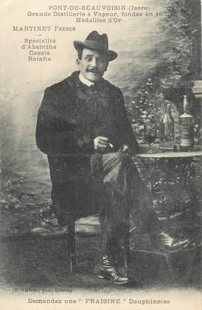"CPA FRANCE 38 ""Pont de Beauvoisin, grande distillerie à vapeur, Martinet Frères"" / ABSINTHE"