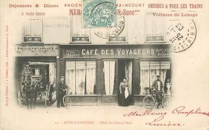 """CPA FRANCE 62 """"Auxi le Chateau, Hotel du cheval Noir"""""""