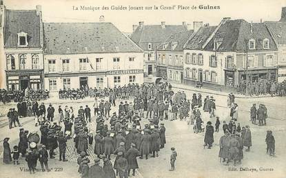 """CPA FRANCE 62 """"Guines, la musique des guides"""""""
