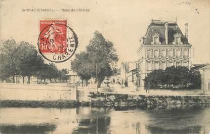 """/ CPA FRANCE 16 """"Jarnac, place du château"""""""