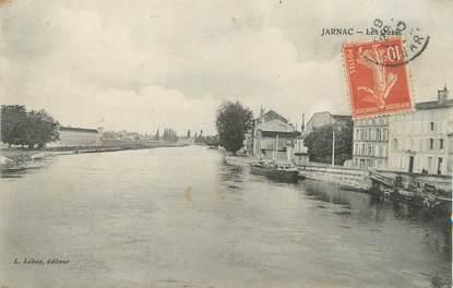 """/ CPA FRANCE 16 """"Jarnac, les quais"""""""