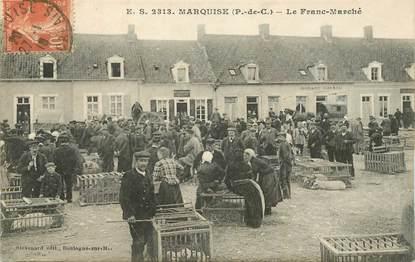 "CPA FRANCE 62 ""Marquise, le franc marché"""