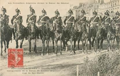 """CPA FRANCE 62 """"Boulogne sur Mer, 1909, inauguration de la statue du Gal Argentin, les grenadiers argentins"""""""