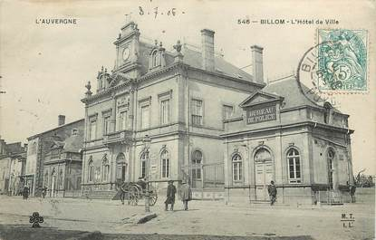 "CPA FRANCE 63 ""Billom, Hôtel de ville"""