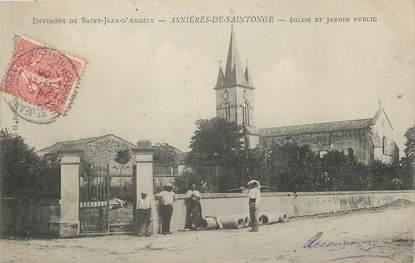 """/ CPA FRANCE 17 """"Asnières de Saintonge, église et jardin public """""""