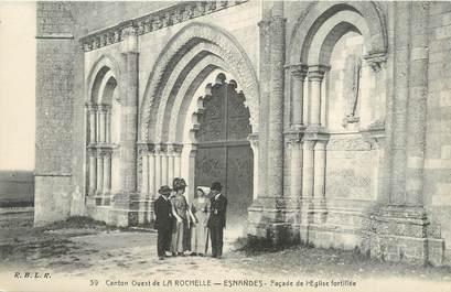 """/ CPA FRANCE 17 """"Canton Ouest de La Rochelle, Esnandes, façade de l'église fortifiée"""""""