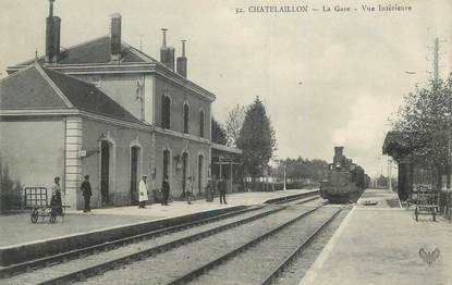 "/ CPA FRANCE 17 ""Chatelaillon, la gare"""