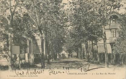 """/ CPA FRANCE 17 """"Chatelaillon, la rue du marché"""""""