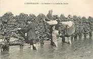 """17 Charente Maritime / CPA FRANCE 17 """"Chatelaillon, les bouchots et la cueille des moules"""""""