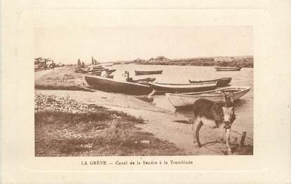 """/ CPA FRANCE 17 """"La Grève, canal de la Seudre à la  Tremblade"""""""