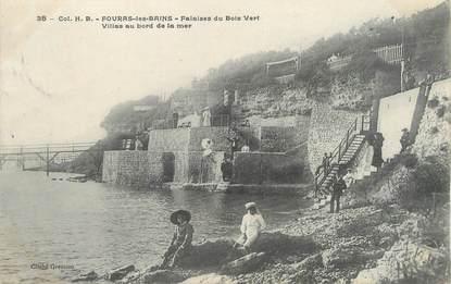 "/ CPA FRANCE 17 ""Fouras les Bains, falaise du bois Vert"""