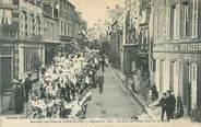 """61 Orne CPA FRANCE 61 """"Souvenir des Fêtes de Carrouges, 1908, rue du Chapitre"""""""