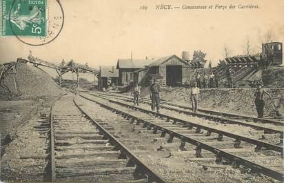 """CPA  FRANCE 61 """"Nécy, concasseuse et Forge des Carrières"""" / MINE"""
