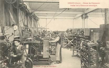 """CPA FRANCE 38 """"Izeaux, Usine de chaussures, atelier de la chaussure mécanique"""""""