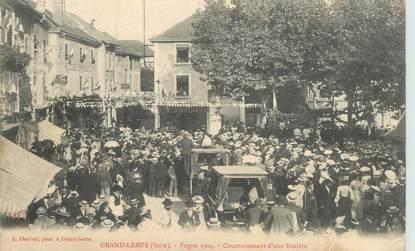 """CPA FRANCE 38 """"Le Grand Lemps, 1904, couronnement d'une Rosière"""""""