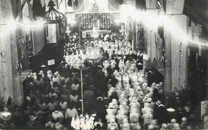 """CARTE PHOTO  FRANCE 38 """"Crémieu, 1932, congrès eucharistique"""""""