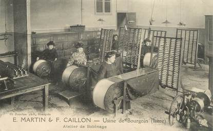 "CPA FRANCE 38 ""Bourgoin, Usine E. Martin & F. Caillon"""